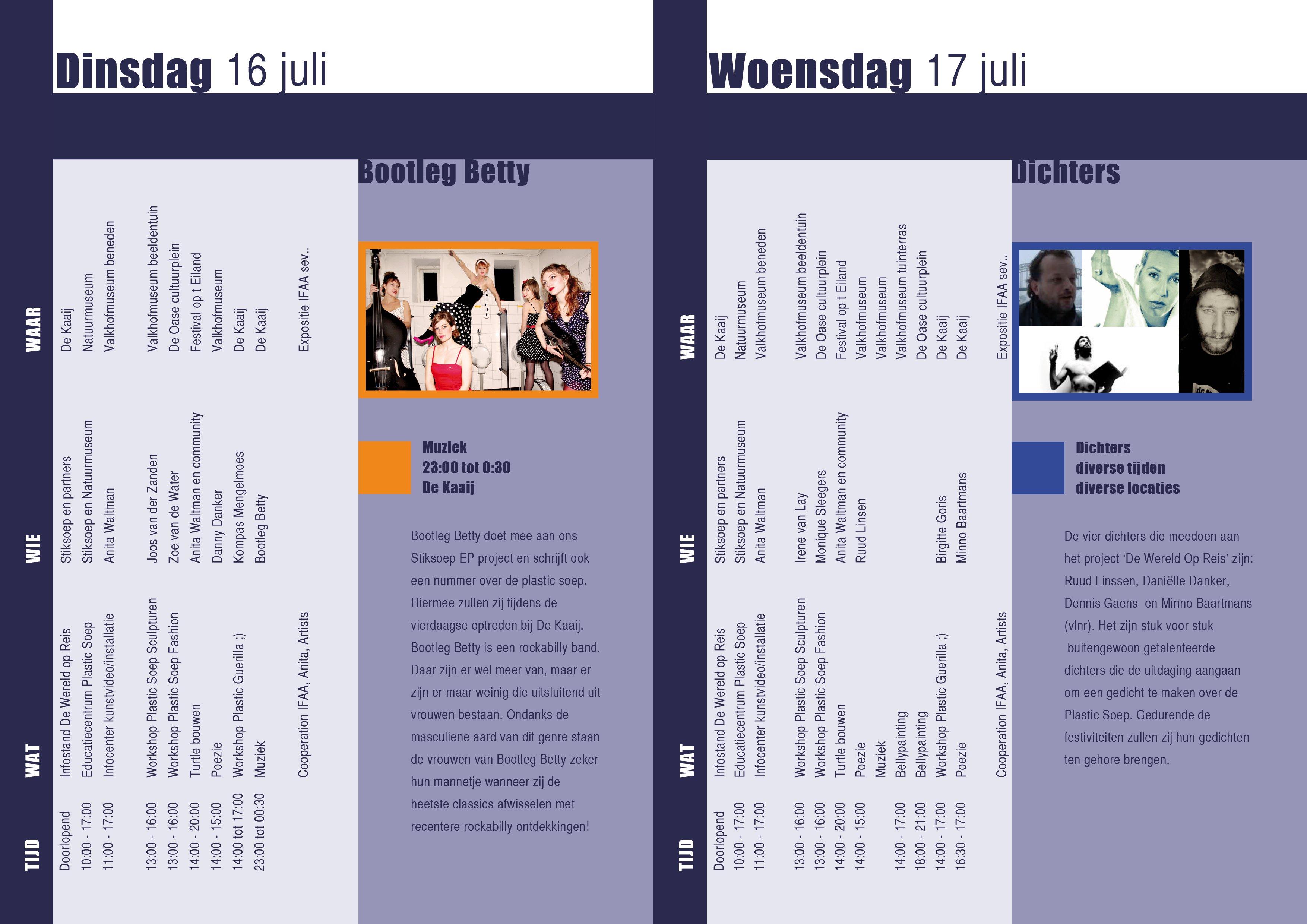Vierdaagse programmaboekje